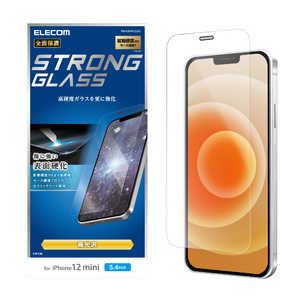 エレコム ELECOM iPhone 12 mini 5.4インチ対応 ガラスフィルム セラミックコート 0.33mm 防塵プレート セラミック PMA20AFLGGC