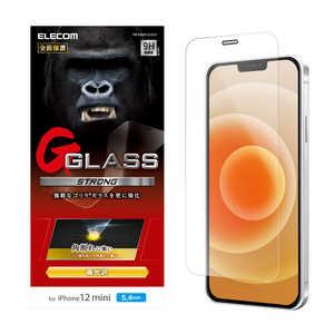 エレコム ELECOM iPhone 12 mini 5.4インチ対応 ガラスフィルム ゴリラ エッジ強化 0.21mm 防塵プレート ゴリラ PMA20AFLGGOS