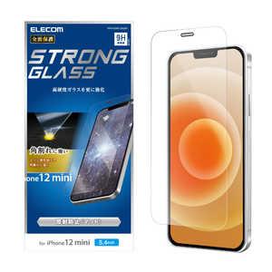 エレコム ELECOM iPhone 12 mini 5.4インチ対応 ガラスフィルム エッジ強化 0.33mm 防塵プレート 反射防止 PMA20AFLGGSM