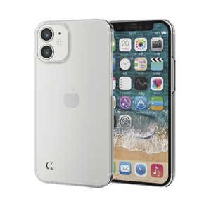 エレコム ELECOM iPhone 12 mini 5.4インチ対応 ハードケース ストラップホール付き クリア クリア PMA20APVSTCR