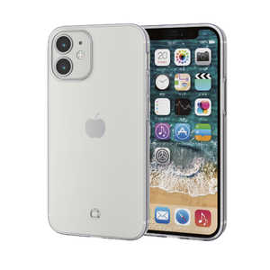 エレコム ELECOM iPhone 12 mini 5.4インチ対応 ソフトケース 極み ストラップホール付き クリア クリア PMA20AUCTSTCR
