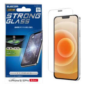 エレコム ELECOM iPhone 12/12 Pro 6.1インチ対応 ガラスフィルム 超強化 0.33mm 防塵プレート 反射防止 PMA20BFLGHM