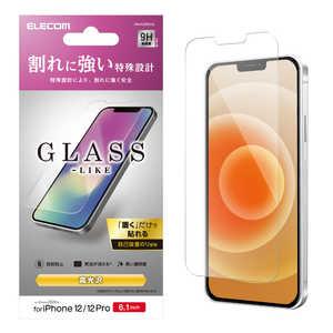 エレコム ELECOM iPhone 12/12 Pro 6.1インチ対応 ガラスライクフィルム 薄型 PMA20BFLGL