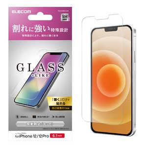 エレコム ELECOM iPhone 12/12 Pro 6.1インチ対応 ガラスライクフィルム 薄型 反射防止 PMA20BFLGLM