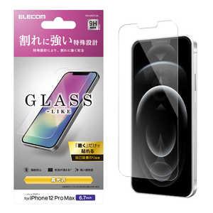 エレコム ELECOM iPhone 12 Pro Max 6.7インチ対応 ガラスライクフィルム 薄型 PMA20CFLGL