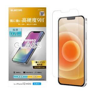 エレコム ELECOM iPhone 12 mini 5.4インチ対応 ガラスフィルム 0.21mm ARコート ARコート PMA20AFLGYA