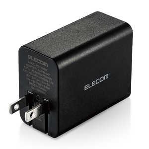 エレコム ELECOM AC-USB充電器 ノートPC・タブレット対応 65W [1ポート:USB-C/USB PD対応]ブラック ブラック ACDCPD1165BK