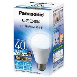 パナソニック Panasonic Panasonic LED電球 ホワイト [E26/昼光色/40W相当/一般電球形/下方向] E26/D/40W LDA4DHEW2