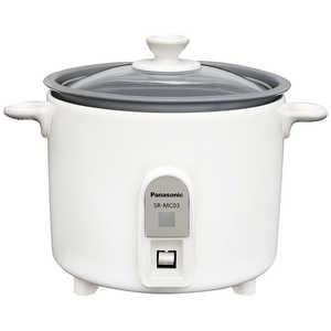 パナソニック ミニクッカー SR-MC03-W 炊飯器