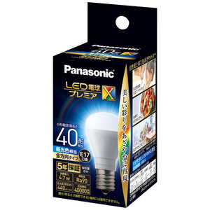 パナソニック Panasonic パナソニック LED電球プレミアX 4.7W(昼光色相当) LDA5DDGE17SZ4