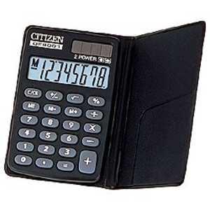 シチズンシステムズ 手帳型電卓 (8桁) DE8001Q