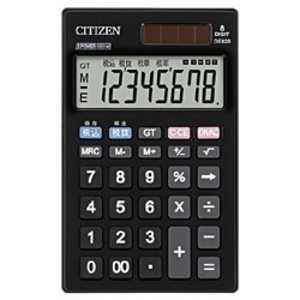 シチズンシステムズ 手帳型電卓 (8桁) DE820