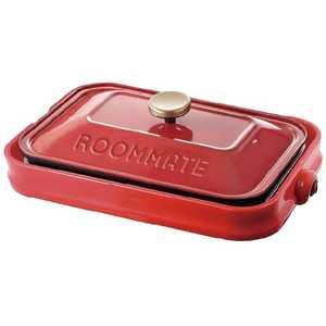 イーバランス ROOMMATE(ルームメイト) ホットプレート「ROOMMATE」(プレート3枚) レッド EBRM8600HRD