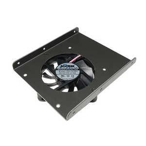 長尾製作所 冷却ファン付2.5インチSSD/HDD→3.5インチ変換マウンタ ブラック NMT308F