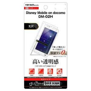 レイアウト Disney Mobile DM-02H用液晶保護フィルム 指紋防止 光沢 RTLDH2FA1