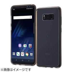 レイアウト Galaxy S8+用 ハイブリッドケース ブラック RTGS8PCC2B