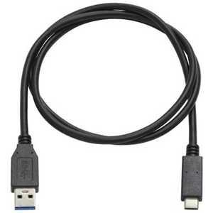 アイネックス 1.0m[USB-C ⇔ USB-A]3.1ケーブル 充電・転送 ブラック U32ACMM10