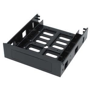 アイネックス マウントアダプター[5.25インチベイ → 3.5/2.5インチSSD/HDD] 3-Way変換マウンタ ブラック HDM44