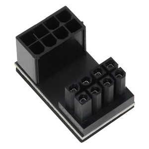アイネックス PCI Express用電源変換アダプタ C字型 8ピン上ラッチ用 ブラック PXPCIE8CO