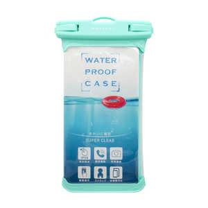 OWLTECH MOTTERU スマートフォン用防水ケース IPX8取得で完全防水 MOTTERU ブルーグリーン グリーンブルー MOTWPC002GB