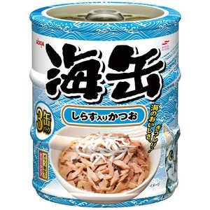アイシア 海缶ミニ3P しらす入りかつお 60g×3缶 猫 ウミカンミニ3Pシラスイリカツオ180G