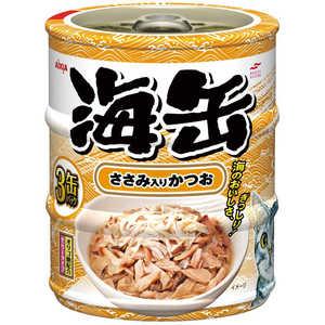 アイシア 海缶ミニ3P ささみ入りかつお 60g×3缶 猫 ウミカンミニ3Pササミイリカツオ180G