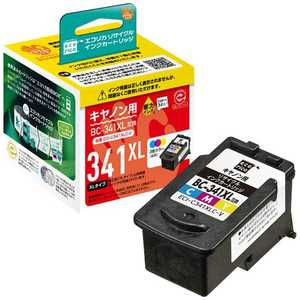 エコリカ キャノン BC-341XL(カラー)対応 リサイクルインクカートリッジ カラー ECIC341XLCV