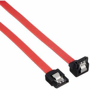 TFTECJAPAN 変換名人 SATA2(3Gbps対応)ケーブル I - L ロック付 50cm レッド SATAILCA50