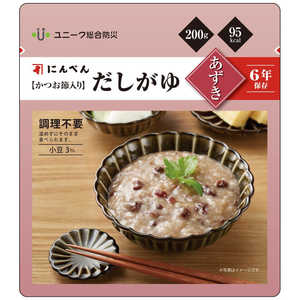 ユニーク総合防災 にんべん【かつお節入】だしがゆスタンドパック(小豆) 9002 食料#