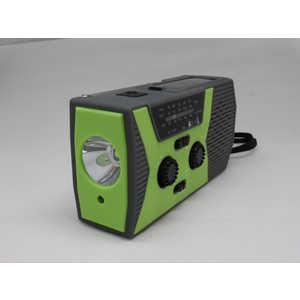 ヒース HI8 ソーラー手回し充電機能付き防災ラジオ [防滴ラジオ/AM/FM]