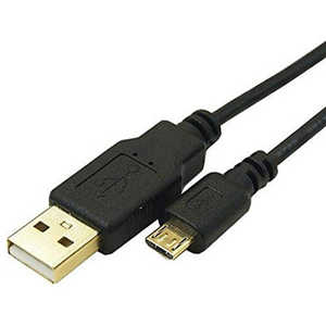 TFTECJAPAN 変換名人 5m[USB-A ⇔ USB microB]極細ケーブル ブラック USB2AMCCA500