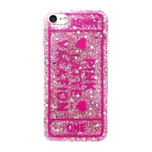 エムディーシー PINK-latte iPhone8/7[ADMIT ONE/ピンク]/ラメシリコンケース ピンク MD74231PNK