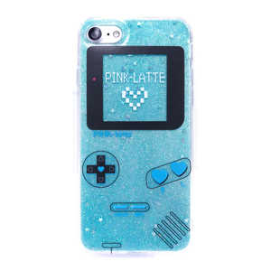 エムディーシー iPhone8/7PINK-latte [ゲーム/ブルー] ブルー MD74232BLU