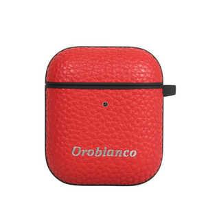 イングリウッド Orobianco オロビアンコ シュリンク PU Leather AirPods Case レッド AP12ORB03 レッド