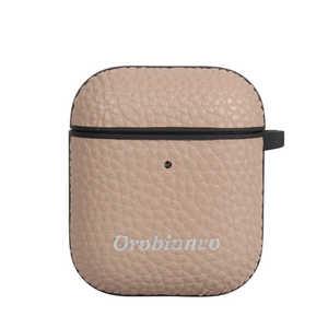 イングリウッド Orobianco オロビアンコ シュリンク PU Leather AirPods Case グレージュ グレージュ AP12ORB04