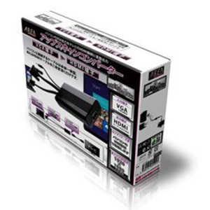 AREA アップスキャンコンバーター/VGA-HDMI ブラック SDUPVH1