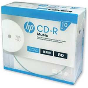 HP 音楽用 CD-R 1-32倍速 80分 10枚「インクジェットプリンタ対応」 80R10P CDRA80CHPW10A