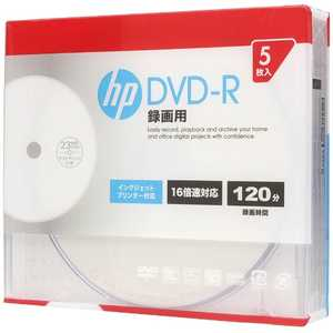 HP 録画用DVD-R [5枚/4.7GB/インクジェットプリンター対応] R-Sx5P16VS DR120CHPW5A