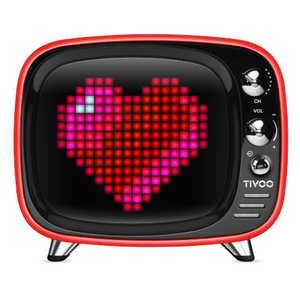 DIVOOM TIVOO SMART PIXEL-ART BLUETOOTH SPEAKER DIV-TIVOO-RD ワイヤレススピーカー