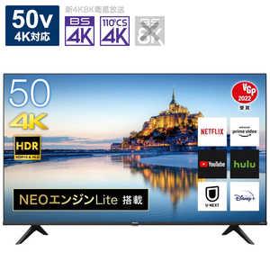 ハイセンス 50V型液晶テレビ/4K対応/BS・CS 4Kチューナー内蔵/YouTube対応 50A6G