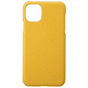 坂本ラヂヲ Shrunken-calf Leather Shell for iPhone 11 Pro Max 6.5インチ YLW Yellow GSCSCIP03YLW