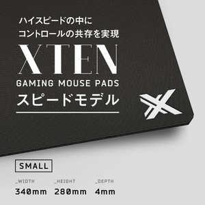XTEN GAMING MOUSE PAD HARD/SPEED Sサイズ ブラック ブラック ブラック PSHSAAX