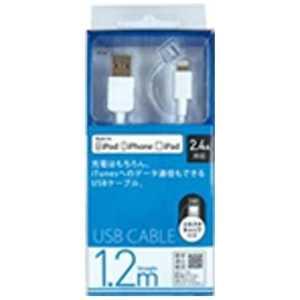 オズマ Lightning-USB2.0ケーブル 充電・転送(1.2m)MFi認証 ホワイト UDLC1203W