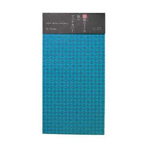 印傳のような紙のブックカバー 文庫判サイズ(七宝/青緑) オフィスサニー 98097