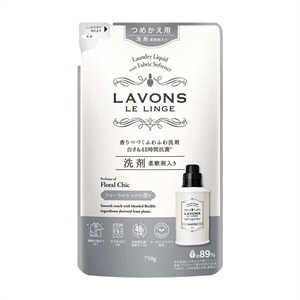 ネイチャーラボ ラボン 柔軟剤入り洗剤 フローラルシック 詰替 750g ラボンセンザイFシックカエ