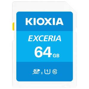 KIOXIA SDXC/SDHC UHS-1 メモリーカード 64GB R100 KSDUA064G