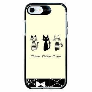 サムライワークス 【2020年新型iPhone】iPhone SE(第2世代)4.7インチ/8/7 Ultra Protect Case SIPPO MonochroRibbon Hash feat.#F リボン HFCTI7S2S01
