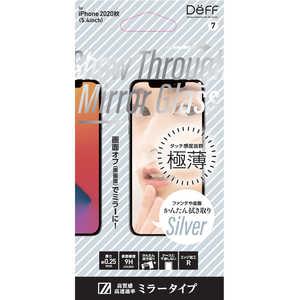 DEFF iPhone 12 mini 5.4インチ対応 5.4inch 透明(シルバー)ミラーガラス クリア/シルバー DGIP20SMG2FSV