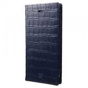 坂本ラヂヲ iPhone 7 Plus用 手帳型レザーケース GRAMAS Croco Patterned Full Leather Case ネイビー Navy GLC6146PNV