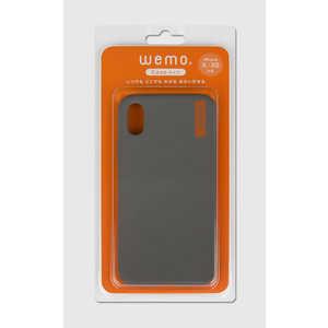 コスモテック wemo ウェアラブルメモ ケースタイプiPhone X/XS用 ダークグレー WEMO_CDG_XXS